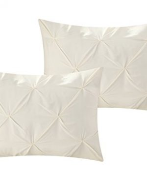 Perfect Home 10 Piece Zita Pinch Pleated Ruffled And Pleated Complete King Bed In A Bag Comforter Set Beige 0 2 300x360
