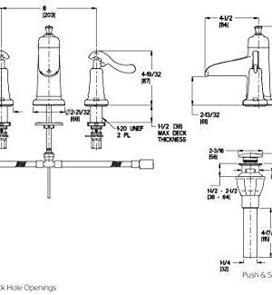 Pfister LG49YP1K Ashfield 2 Handle 8 Widespread Bathroom Faucet In Brushed Nickel Water Efficient Model 0 1 300x325