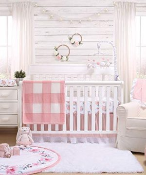 Pink Watercolor Floral Fitted Baby Girl Crib Sheet Farmhouse Collection By The Peanut Shell 0 0 300x360