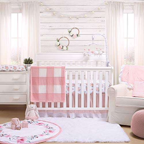 Pink Watercolor Floral Fitted Baby Girl Crib Sheet Farmhouse Collection By The Peanut Shell 0 0