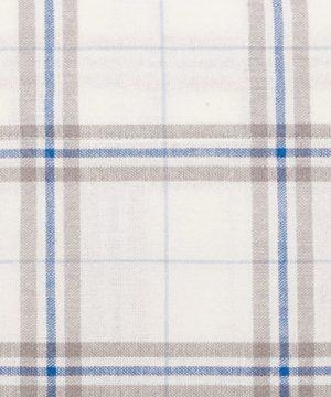 Pinzon 160 Gram Plaid Flannel Cotton Bed Sheet Set Queen Cream Blue Stripe Plaid 0 1 300x360