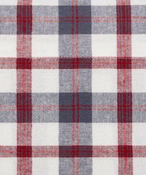 Pinzon 160 Gram Plaid Flannel Cotton Bed Sheet Set Queen Red Grey Plaid 0 1 300x360