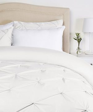 Pinzon Pinch Pleat Duvet Cover Set King White 0 300x360