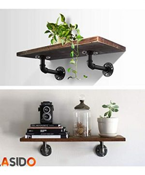 Pipe Bracket 6 Packs Black Industrial DIY L Pipe Shelf Bracket For Wood Floating Shelf Vintage Look Rustic Pipe Decor Wall Mount With All Accessories Needed Shelf Not Included 6 Packs L Type 0 2 300x360