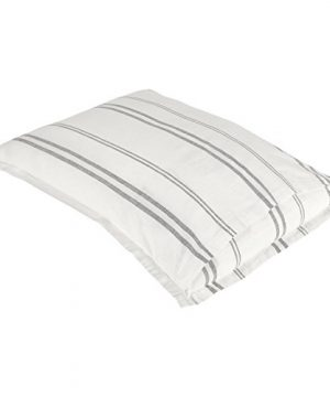 Rivet Maxwell Washed Stripe Duvet Cover Set Full Or Queen White With Grey Stripe 0 2 300x360
