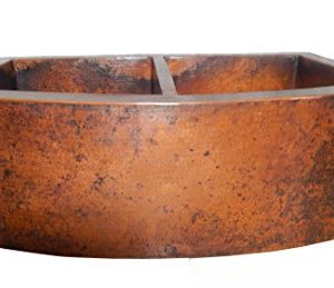 Rounded Apron Front Farmhouse Kitchen Double Bowl Mexican Copper Sink 5050 0 0 300x259