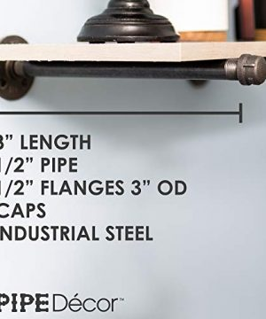 Rustic Pipe Decor Industrial Shelf Brackets Set Of Four Industrial Steel Grey Fittings Flanges Pipes For Custom Floating Shelves Vintage Furniture Decorations Wall Mounted DIY Bracket 8 Inch 0 0 300x360