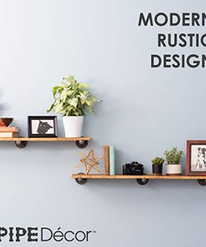 Rustic Pipe Decor Industrial Shelf Brackets Set Of Six Industrial Steel Grey Iron Fittings Flanges And Pipes For Custom Floating Shelves Vintage Hanging Wall Mounted Furniture Decorations 0 4 300x360