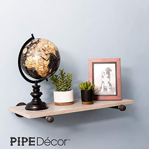 Rustic Pipe Decor Industrial Shelf Brackets Set Of Four Industrial Steel Grey Iron Fittings Flanges And Pipes For Hanging Custom Floating Shelves Wall Mounted Bracket 10 Inch 4 Brackets Only 0 3