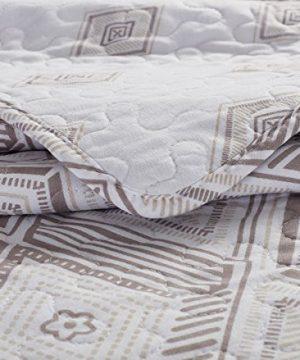 SLPR Diamond Dazzle 2 Piece Lightweight Printed Quilt Set Twin With 1 Sham Pre Washed All Season Machine Washable Bedspread Coverlet 0 5 300x360