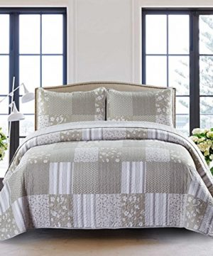 SLPR Silent Reverie 2 Piece Lightweight Printed Quilt Set Twin With 1 Sham Pre Washed All Season Machine Washable Bedspread Coverlet 0 300x360