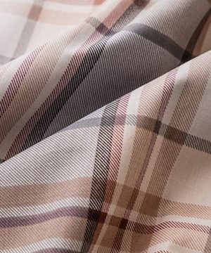 SUSYBAO 3 Piece Duvet Cover Set 100 Natural Cotton King Size Khaki Tartan Bedding Set With Zipper Ties 1 Grey Plaid Striped Duvet Cover 2 Pillowcases Luxury Quality Soft Cool Comfortable Lightweight 0 1 300x360