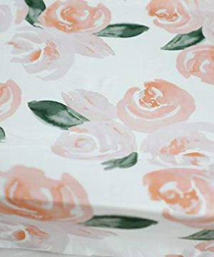 Sahaler Floral Crib Sheet For Girl Boy Baby Fitted Crib Sheets For Standard Crib And Toddle Mattresses Blush Watercolor 0 0 300x360