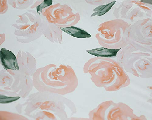 Sahaler Floral Crib Sheet For Girl Boy Baby Fitted Crib Sheets For Standard Crib And Toddle Mattresses Blush Watercolor 0 1