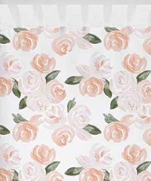 Sahaler Floral Crib Sheet For Girl Boy Baby Fitted Crib Sheets For Standard Crib And Toddle Mattresses Blush Watercolor 0 300x360