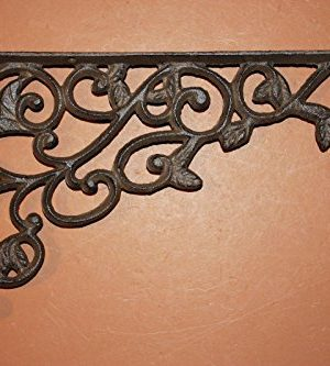 Set Of 4 Farmhouse Shelf Brackets Cast Iron Open Shelving Supports Corbels 12 Inches B 14 0 300x333