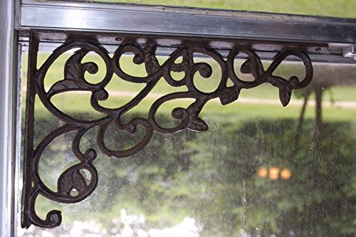 Set Of 4 Farmhouse Shelf Brackets Cast Iron Open Shelving Supports Corbels 12 Inches B 14 0 4