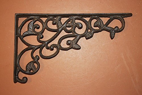 Set Of 4 Farmhouse Shelf Brackets Cast Iron Open Shelving Supports Corbels 12 Inches B 14 0