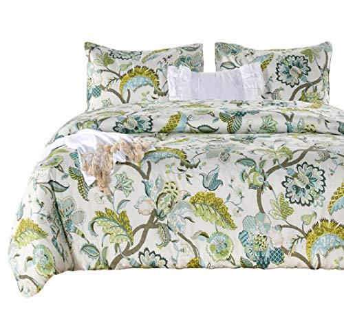 Ytown Fl Comforter Set, Botanical Print Bedding
