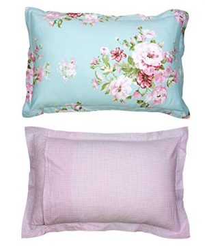 Shabby Farmhouse Pink Rose Floral Duvet Cover Set 100 Cotton 3Pcs American Country Style Queen Size Bedding Set 1duvet Cover 2pillowcases 0 1 300x360