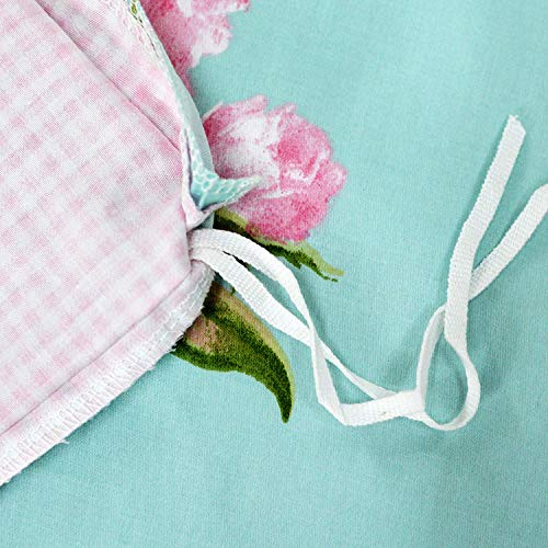 Shabby Farmhouse Pink Rose Floral Duvet Cover Set 100 Cotton 3Pcs American Country Style Queen Size Bedding Set 1duvet Cover 2pillowcases 0 4