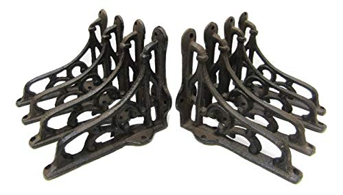 Shelf Brackets Braces Cast Iron Very Small Rustic Antique Style Lot Set Of 8 0 0