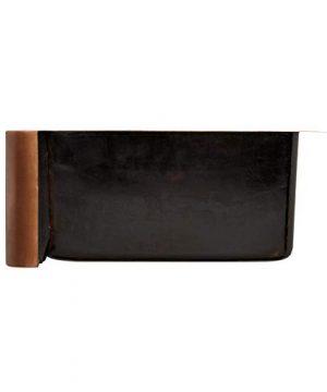 Signature Hardware 318839 Floral Design 33 Single Basin Copper Farmhouse Sink 0 3 300x360