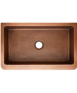 Signature Hardware 318879 Raina 36 Single Basin Copper Farmhouse Sink 0 0 300x360