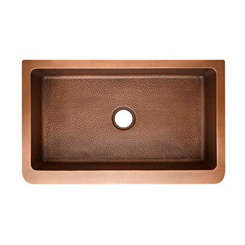 Signature Hardware 318879 Raina 36 Single Basin Copper Farmhouse Sink 0 0