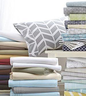 Simply Soft 4 Piece Sheet Set Ribbon Patterned King Gray 0 0 300x332