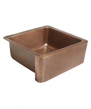 Sinkology K1A 1209HA AMZ Monet Handmade 25 CareIQ Kit Farmhouse Apron Front Kitchen Sink Single Bowl Antique Copper 0 0 300x360