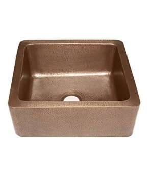 Sinkology K1A 1209HA AMZ Monet Handmade 25 CareIQ Kit Farmhouse Apron Front Kitchen Sink Single Bowl Antique Copper 0 1 300x360