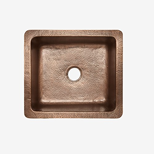 Sinkology K1A 1209HA AMZ Monet Handmade 25 CareIQ Kit Farmhouse Apron Front Kitchen Sink Single Bowl Antique Copper 0 2