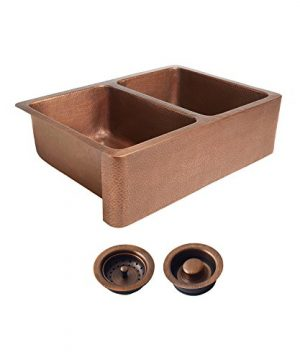 Sinkology K2A 1005 AMZ BD Rockwell Combo Strainer Disposal Drains Kitchen Sink Antique Copper 0 300x360