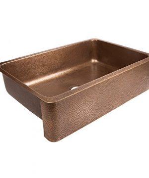 Sinkology SEK307 33 AMZ B Lange Farmhouse 32 In Single Bowl Strainer Kitchen Sink With Drain Antique Copper 0 0 300x360