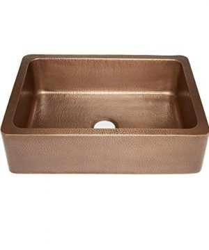 Sinkology SK302 30AC WG B Courbet Copper Kitchen Sink With Grid And Strainer Drain 0 1 300x360
