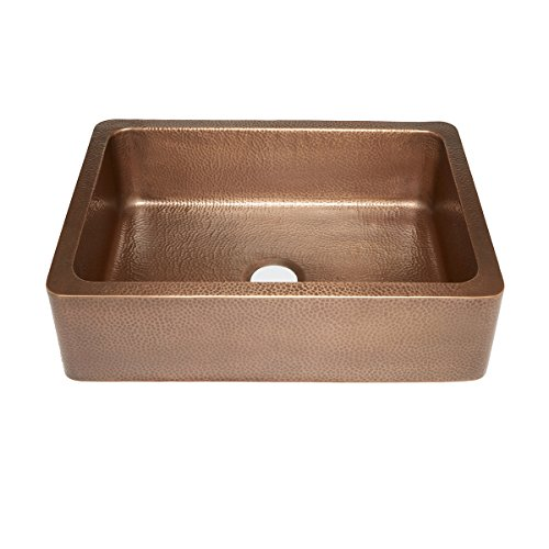Sinkology SK302 30AC WG B Courbet Copper Kitchen Sink With Grid And Strainer Drain 0 1