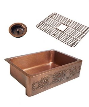 Sinkology SK303 33SC WG B Ganku Copper Kitchen Sink 0 300x360