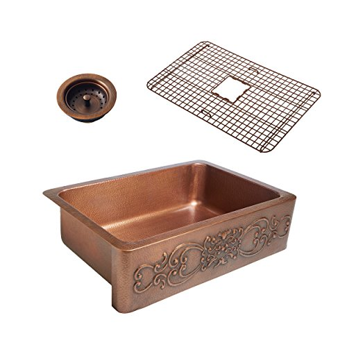 Sinkology SK303 33SC WG B Ganku Copper Kitchen Sink 0