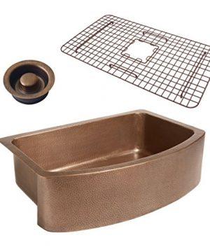 Sinkology SK304 33B WG D Copper Kitchen Sink 0 300x360