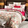 Softta Duvet Cover Set King Bedding 3Pcs Leaves Floral Quilt Cover Peacock Bird Floral Vintage And Farmhouse Chinoiserie French Country 100 Egyptian Cotton 800 Thread Count Red 0 100x100