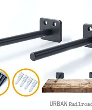 Solid Steel Floating Shelf Brackets 6 Steel Rod With 12 Diameter Powder Coated Finish Rustproof Blind Shelf Supports Flush Fit HARDWARE ONLY Bracket Set Of 2 Includes Screws Wall Anchors 0 300x360