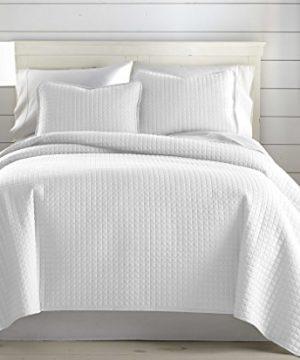 Southshore Fine Linens Vilano Springs Oversized 3 Piece Quilt Set KingCalifornia King Bright White 0 1 300x360