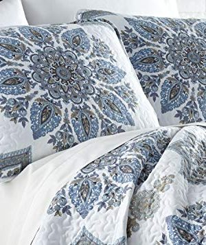 Southshore Fine Living Inc The Infinity Collection Quilt 3 Piece Set KingCalifornia King Blue 0 0 300x357