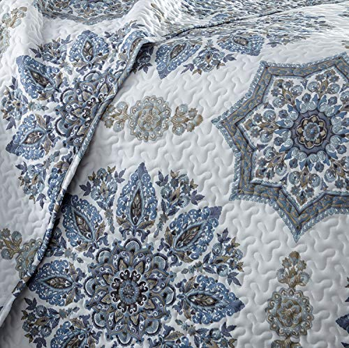Southshore Fine Living Inc The Infinity Collection Quilt 3 Piece Set KingCalifornia King Blue 0 1