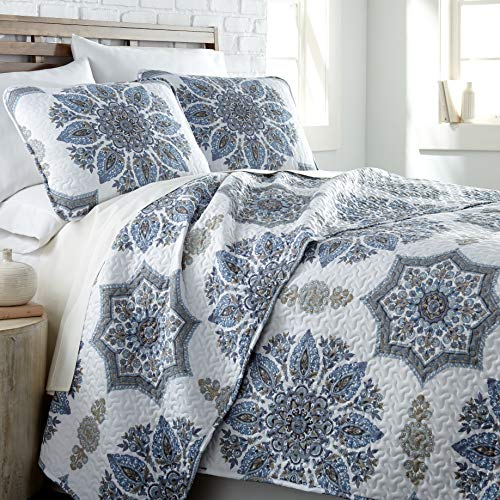 Southshore Fine Living Inc The Infinity Collection Quilt 3 Piece Set KingCalifornia King Blue 0