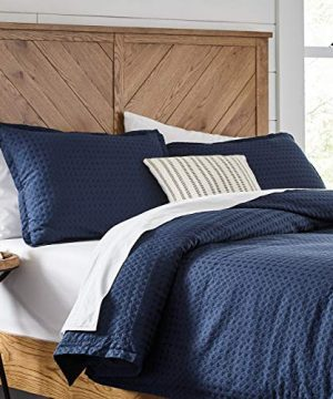 Stone-Beam-100-Cotton-Soft-Waffle-Texture-Transitional-Gemma-Duvet-Cover-Set-90-x-90-Full-Queen-Navy-0