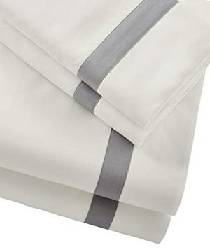 Stone-Beam-Banded-100-Percale-Cotton-Bed-Sheet-Set-Easy-Care-Queen-Cloud-0-0