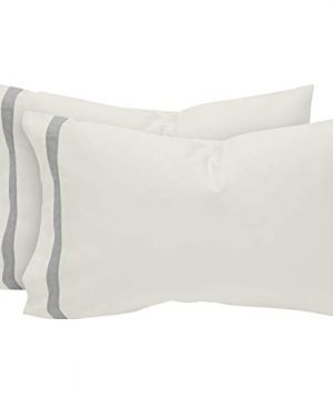 Stone Beam Banded 100 Percale Cotton Bed Sheet Set Easy Care Queen Cloud 0 2 300x360