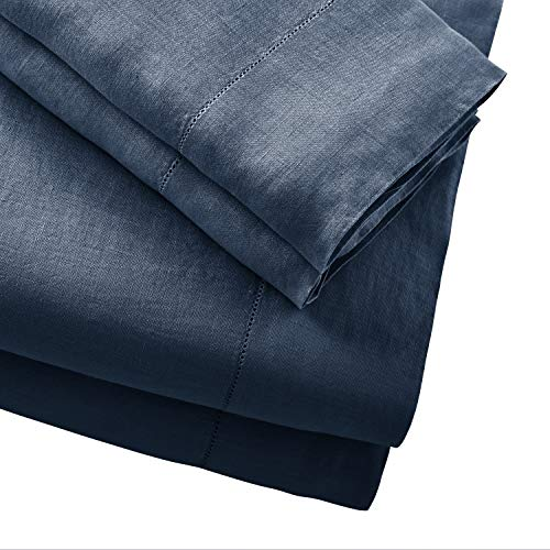 Stone Beam Belgian Flax Linen Bed Sheet Set Breathable And Durable King Aruba 0 0